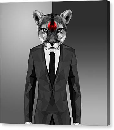 Cougar Canvas Print by Gallini Design
