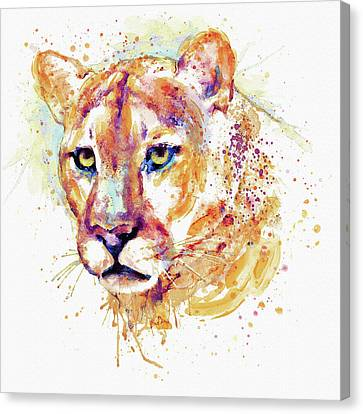 Lions Canvas Print - Cougar Head by Marian Voicu