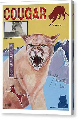 Cougar -visualisation Canvas Print by John Keaton