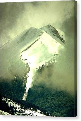 Canvas Print featuring the photograph Coulier Through The Veil Spring Storm Over Lemhi Range Idaho by Anastasia Savage Ealy