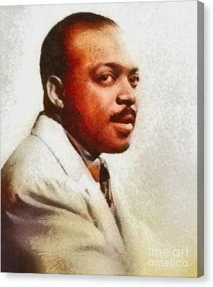 Basie Canvas Print - Count Basie, Music Legend by Mary Bassett