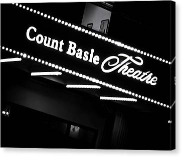 Basie Canvas Print - Count Basie Theatre In Lights by Colleen Kammerer