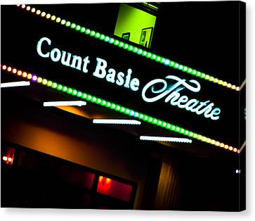 Basie Canvas Print - Count Basie Theatre Lights In Color by Colleen Kammerer