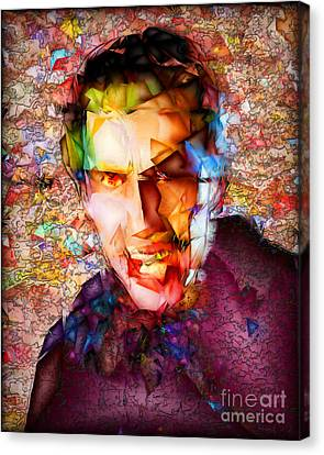 Canvas Print featuring the photograph Count Dracula 20170413 by Wingsdomain Art and Photography