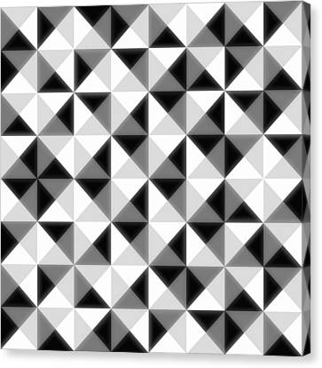 Pattern Canvas Print - Count The Squares by Ron Brown