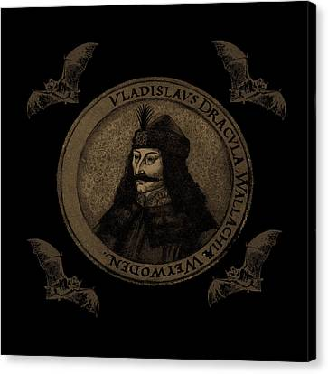 Count Vlad Dracula Canvas Print by Valentina Hramov