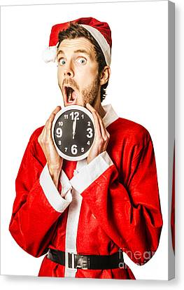 Countdown To Christmas Time Coming Soon Canvas Print