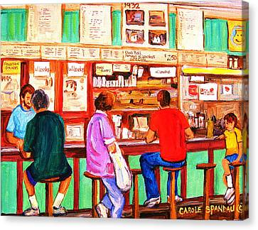 Canvas Print featuring the painting Counter Culture by Carole Spandau