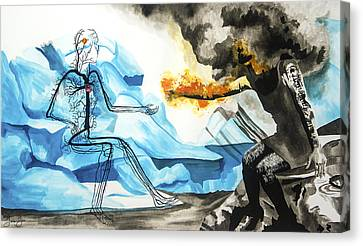 Counterpoint Canvas Print - Counter Intuition by Jenie Gao