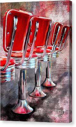 Counter Seating Available Canvas Print by Lois Bryan