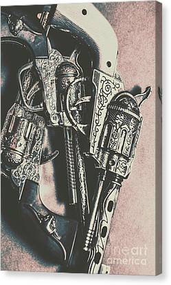 Country And Western Pistols Canvas Print by Jorgo Photography - Wall Art Gallery