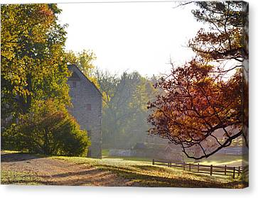 Maine Barns Canvas Print - Country Autumn by Bill Cannon