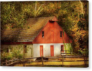 Country - Barn - Out To Pasture Canvas Print by Mike Savad