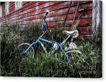 Canvas Print featuring the photograph Country Bicycle by Brad Allen Fine Art