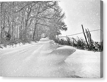 Country Blizzard  Canvas Print by SharaLee Art