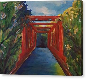 Indiana Landscapes Canvas Print - Country Bridge by Mary Clifford Lewis