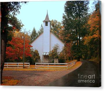 Canvas Print featuring the photograph Country Church by Brenda Bostic