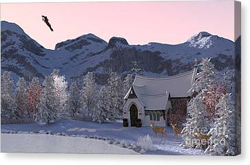 Country Church Canvas Print by Methune Hively