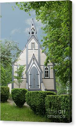 Country Church Canvas Print by Rod Wiens