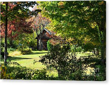 Country Cottage Canvas Print by Andrea Simon