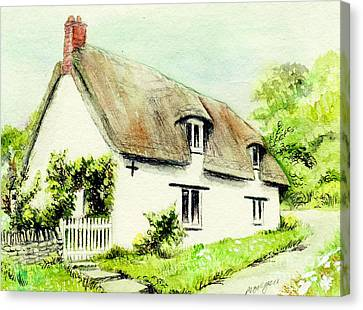Country Cottage England  Canvas Print