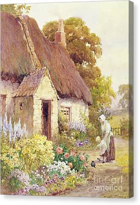 Country Cottage Canvas Print by Joshua Fisher