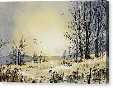 Canvas Print featuring the painting Country Dawn by James Williamson