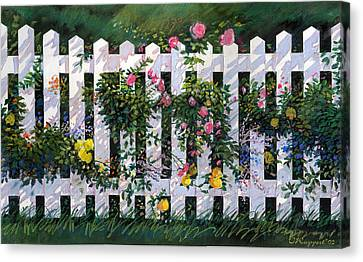 Country Fence Canvas Print by Valer Ian