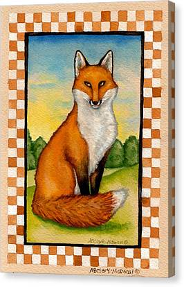 Country Fox Canvas Print by Beth Clark-McDonal