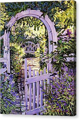 Country Garden Gate Canvas Print by David Lloyd Glover