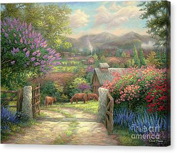 Country Gate Canvas Print by Chuck Pinson