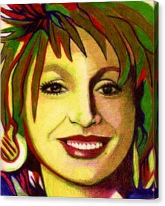 Biro Art Canvas Print - Country Girl by Jerry  Stith