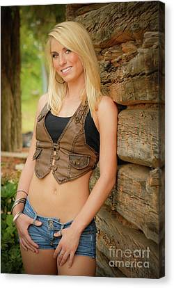 Country Girl Canvas Print by Jt PhotoDesign
