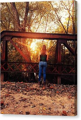 Country Girl Sunset Canvas Print by Scott D Van Osdol