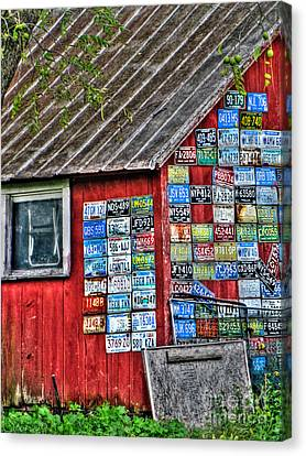 Country Graffiti Canvas Print by September  Stone