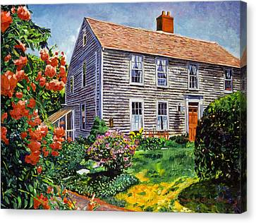 Country House Cape Cod Canvas Print by David Lloyd Glover