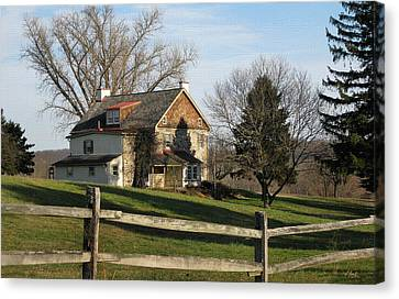 Country House Canvas Print by Gordon Beck