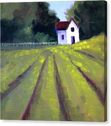Canvas Print featuring the painting Country House by Nancy Merkle