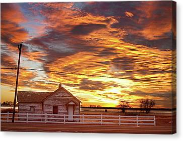Country House Sunset Longmont Colorado Boulder County Canvas Print by James BO  Insogna
