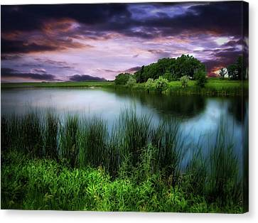Country Lake Canvas Print
