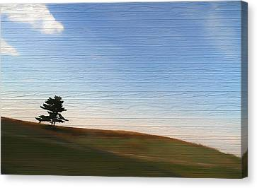 Country Landscape Minimalism Canvas Print