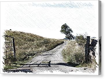Canvas Print featuring the photograph Country Lane by RKAB Works