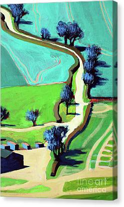 Country Lane Summer Canvas Print