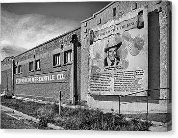 Canvas Print featuring the photograph Country Legend Bob Wills In Roy New Mexico by Mary Lee Dereske