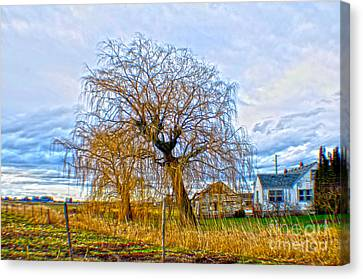 Canvas Print featuring the photograph Country Life Artististic Rendering by Clayton Bruster