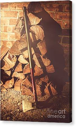 Woodpile Canvas Print - Country Life Details by Jorgo Photography - Wall Art Gallery