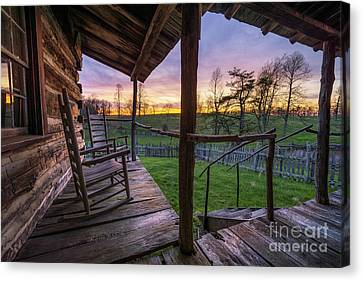 Side Porch Canvas Print - The Sitting Place by Anthony Heflin