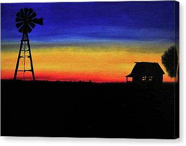Country Morning Canvas Print