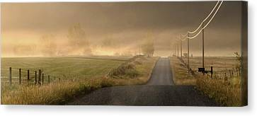 Canvas Print featuring the photograph Country Mornings by Al Swasey