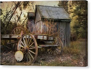 Wagon Wheels Canvas Print - Country Music by Robin-Lee Vieira